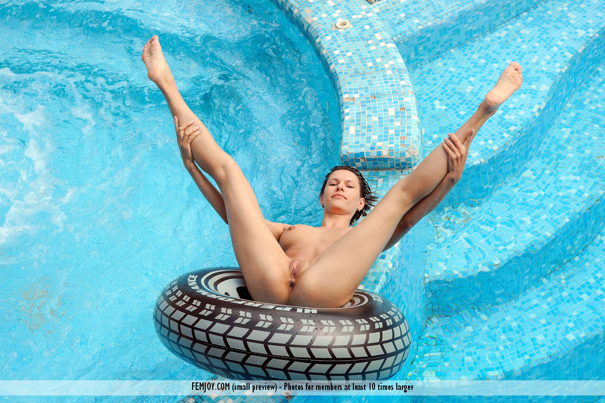Skinny Dipping In A Pool  Nakedbigtitspicscom-2496