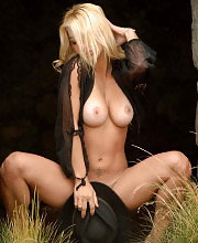 Sexy blonde gets nude